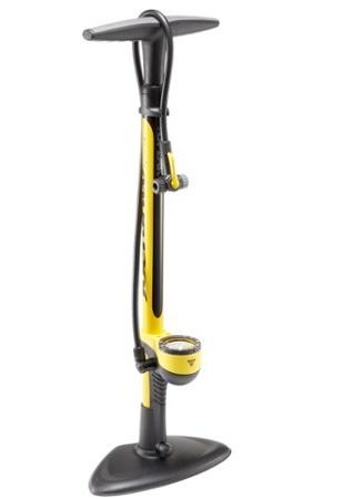 topeak topeak joe blow sport ii floor pump: yellow - rideco bike shop