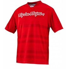 Troy Lee SKYLINE JERSEY; DIVIDED FIRE RED MD