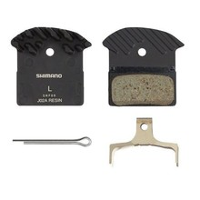 Shimano Shimano J02A Resin Disc Brake Pad and Spring with Fin for XTR M9020 M985, XT M8000 M785, SLX M675 Disc Calipers