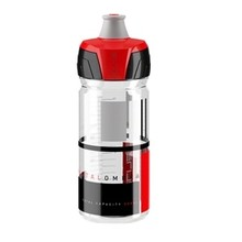 Elite SRL Crystal Ombra 550ml Water Bottle Clear with Red Graphics