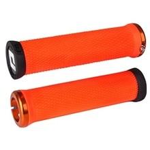 ODI Elite Motion Lock-On Grips Orange with Orange Clamps