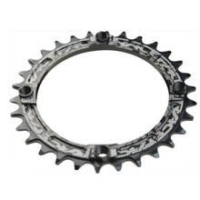 RaceFace RaceFace Narrow-Wide Chainring: 104 BCD, 10-12 Speed, 32t Black