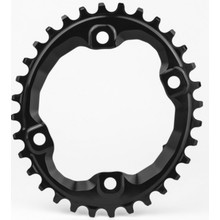 Absolute Black Oval 32t MTB 104bcd n/w Chainring - Black