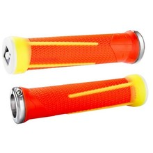ODI INV AG-1 Aaron Gwin V2.1 Lock-On Grips 135mm Flouro Org/Yell