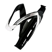 Elite SRL Elite Custom Race Water Bottle Cage: Matte Black/White/Silver