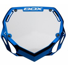 BOX TWO NUMBER PLATE CHROME/BLUE