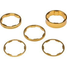 """Promax INV Promax 1-1/8"""" Stem Spacer Kit 10-5-3-1mm Spacers Gold"""