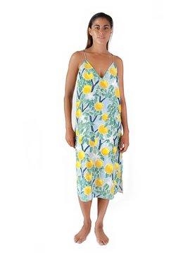 Whit Slip Dress Wayne Pate Print