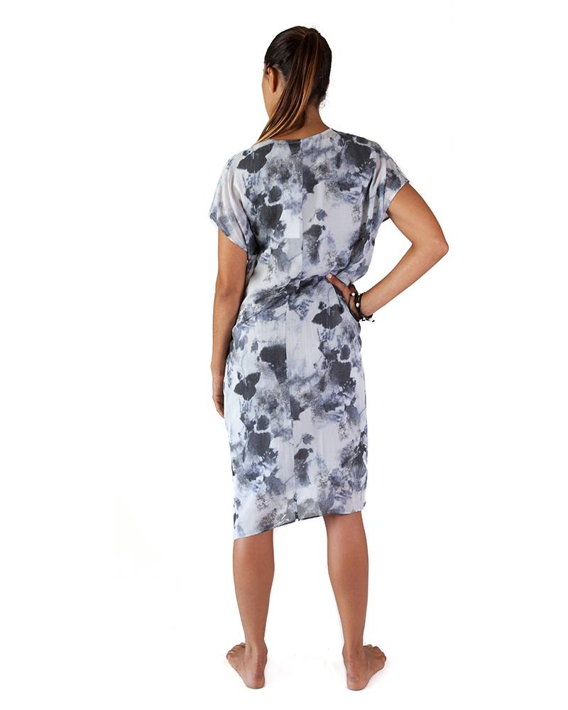 Pas de Calais Abstract Floral Dress