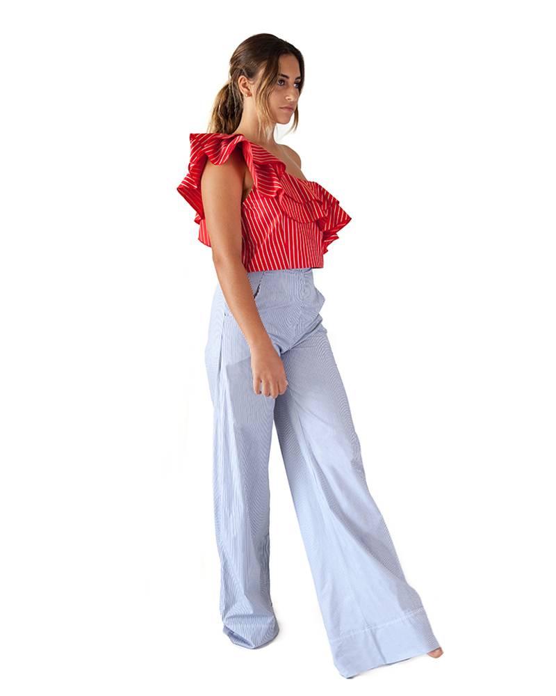 Sandra Weil Baradero Wide-Leg Pants
