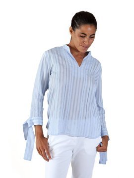 Armando Takeda Striped Lace Blouse