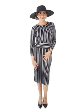 Tabula Rasa Stripe Knit Dress