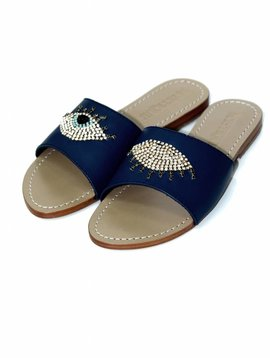 Mystique Cardiff Bling Evil Eye Sandals