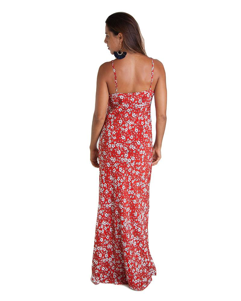 0039 Italy Orchid Red Slip Dress