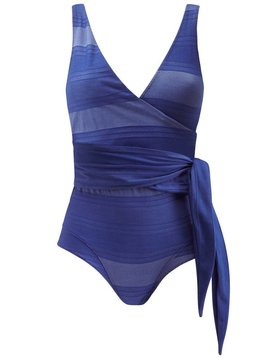 Lisa Marie Fernandez Dree Louise Striped Maillot  Swimsuit