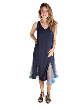 Armando Takeda Slip Dress with Mexican Raffia