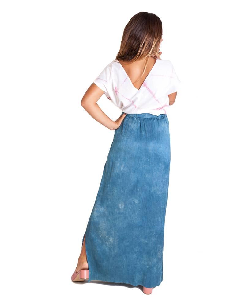 Carla Fernandez Añil Silk Skirt