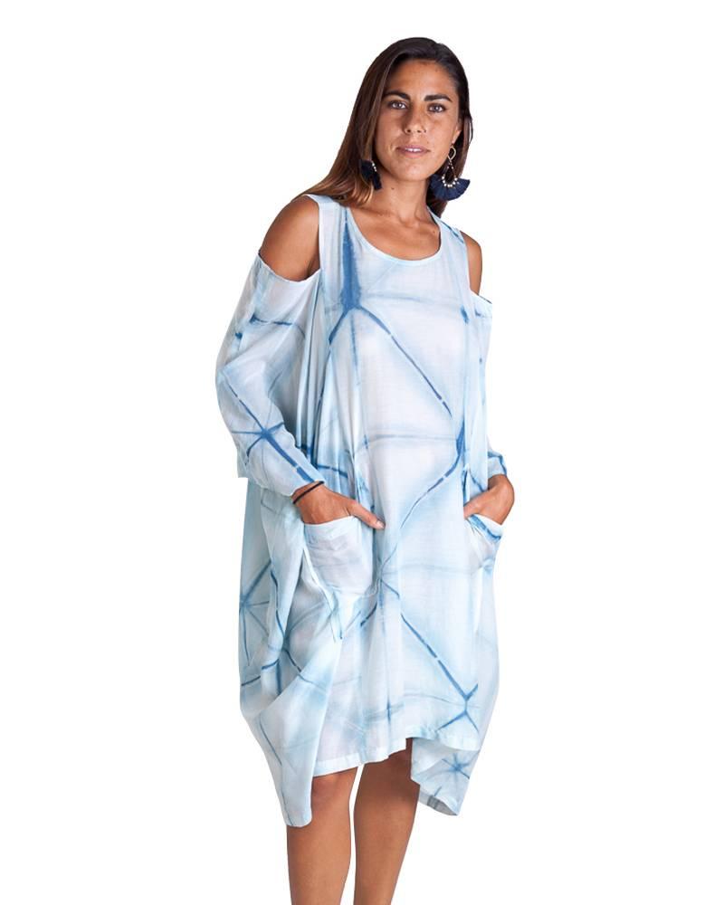Carla Fernandez Claudia Añil Dress