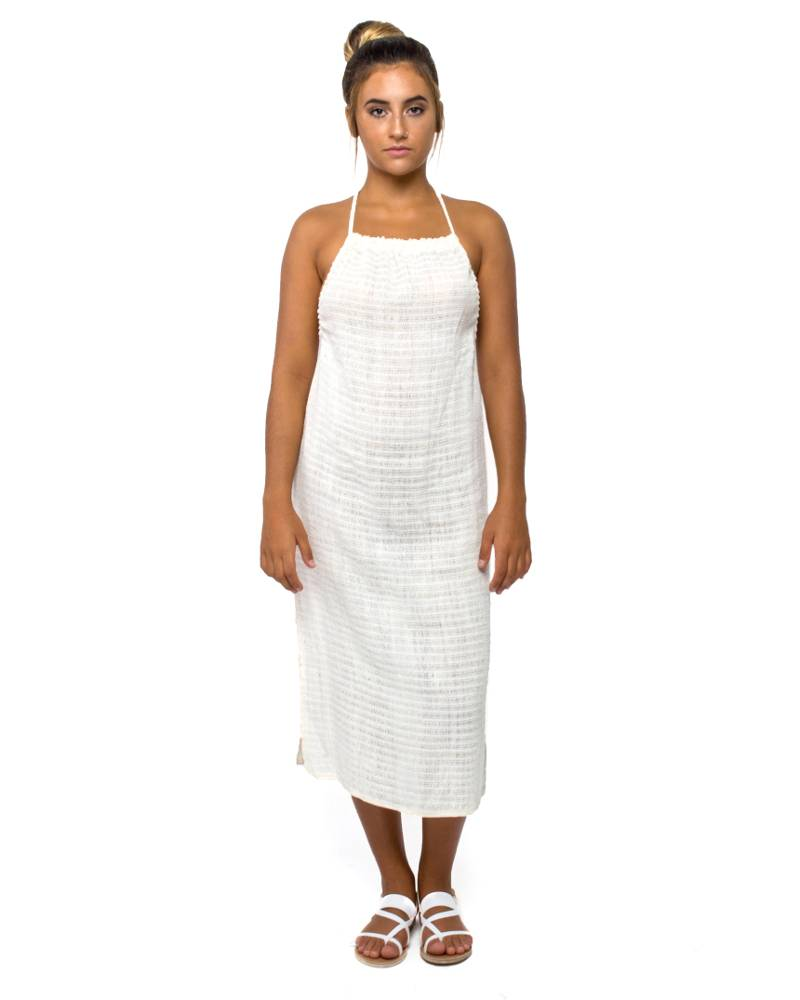 Jaline Ecru Handwoven Dress