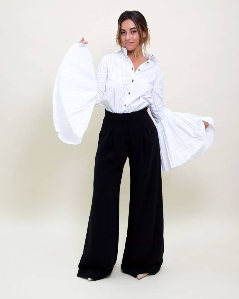 Monographie Pleated Sleeve Shirt
