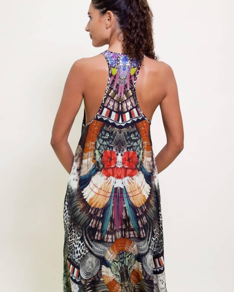 Camilla Light My Fire Silk Dress