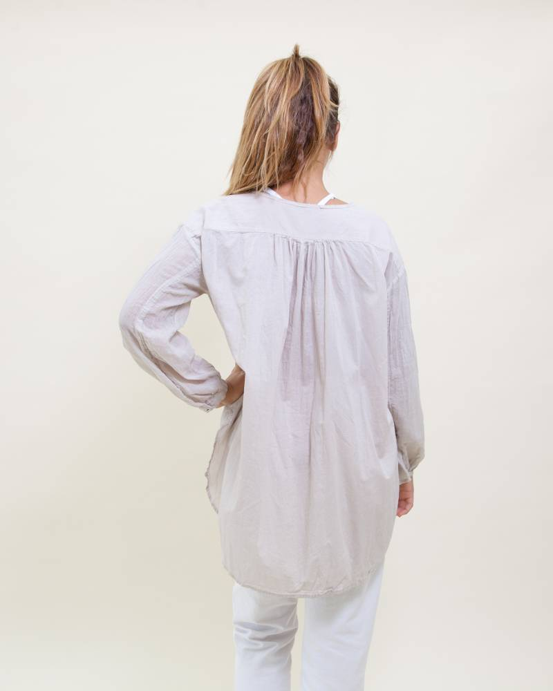 Pas de Calais Cotton Long Sleeve Blouse
