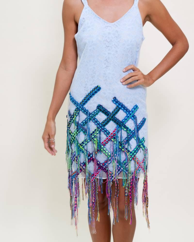 Armando Takeda Agua Azul Dress