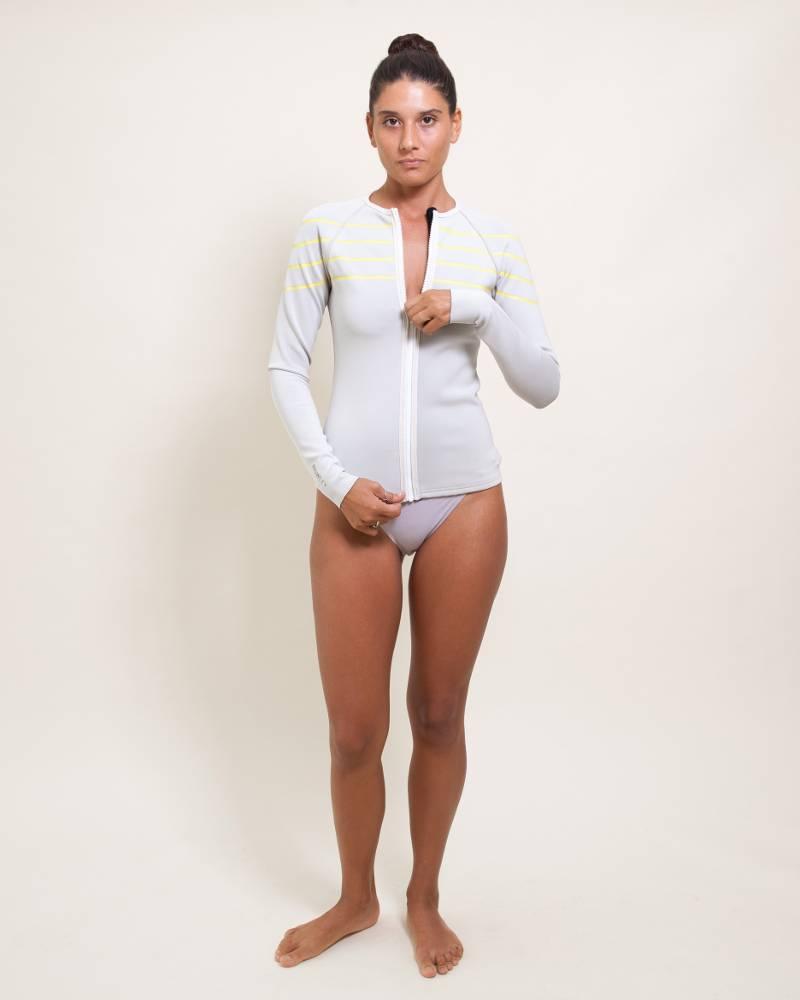 Cynthia Rowley Sport Stripe Rashguard Jacket