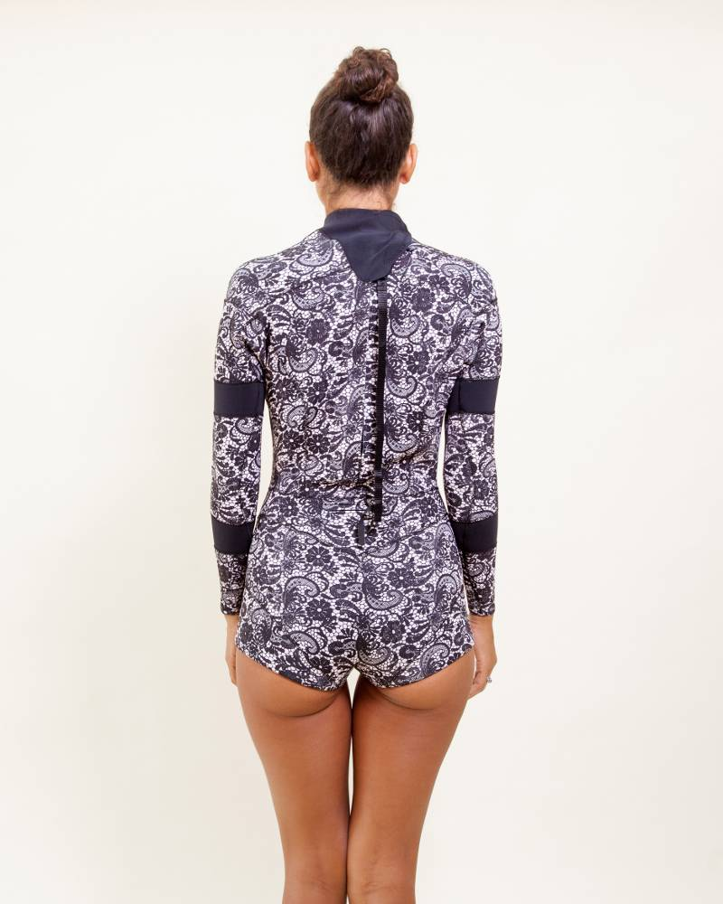 Cynthia Rowley Black Lace Wetsuit