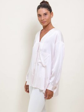 6397 Collarless Silk Shirt