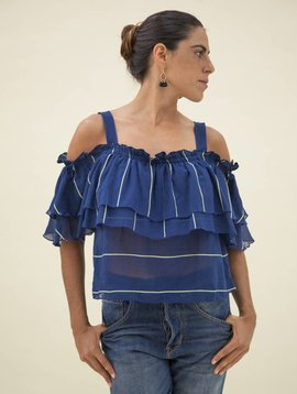 lemlem Uju Cold Shoulder Top