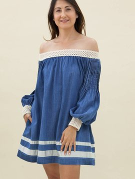 Ampersand Heart Denim Tunic Dress