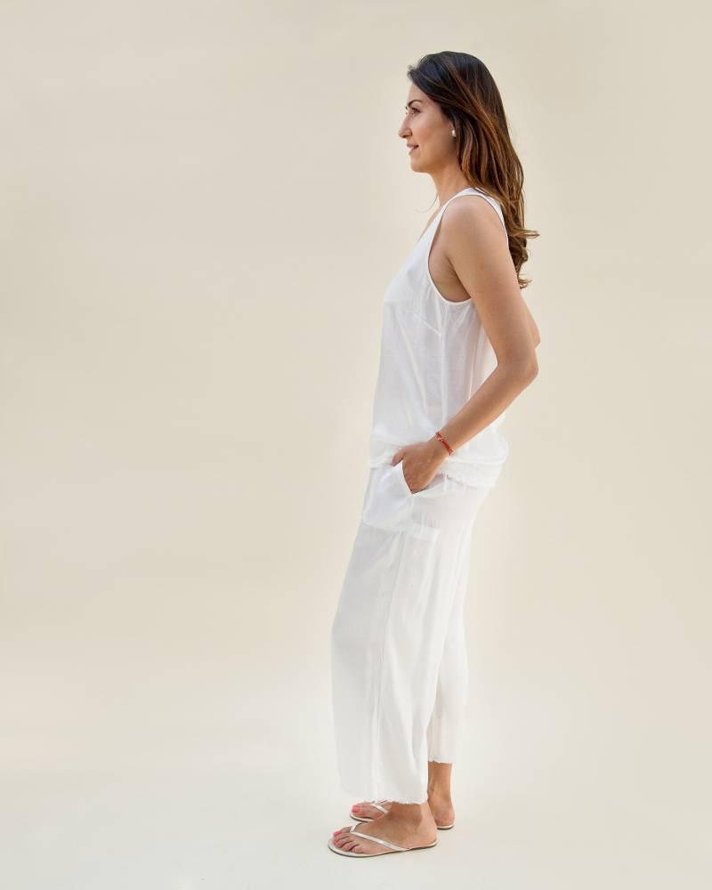 Raquel Allegra Paper Bag Pants