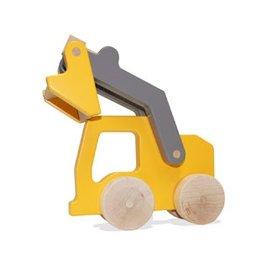 Manny & Simon Manny & Simon - Loader, Wooden Push Toy, Dark Yellow & Gray