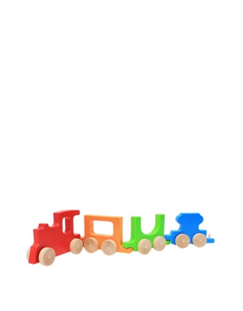 Manny & Simon Manny & Simon - Train, Wooden Push Toy, Red