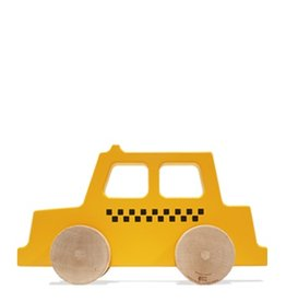 Manny & Simon Manny & Simon - Taxi, Wooden Push Toy, Dark Yellow