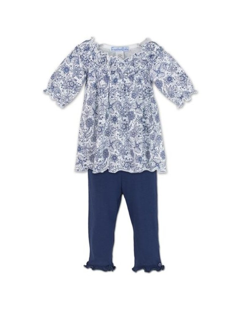 Feather Baby Feather Baby Ruched Tunic Set