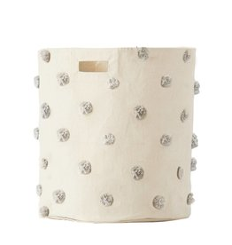 Pehr Designs Petit Pehr- Storage Hamper Pom Pom Grey