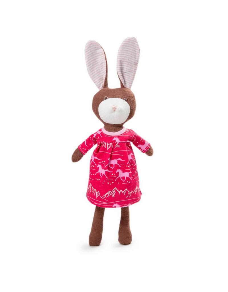 Hazel Village Hazel Village Animals Zoe Rabbit In Wild Horses Dress