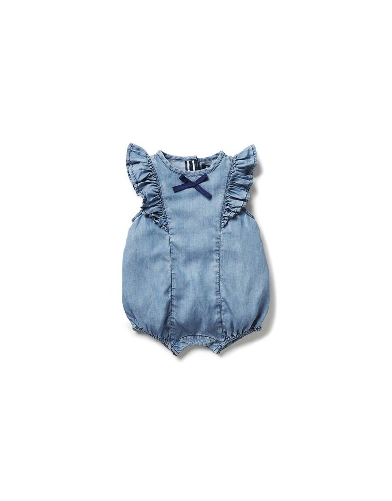Blu & Blue Blu & Blue - Chambray Ruffle One-Piece