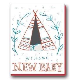 Natalie Eden Natalie Eden Individual Cards New Baby Teepee