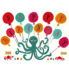 Mr. Boddington's Studio Mr. Boddington's Studio Individual Cards  Octopus Birthday
