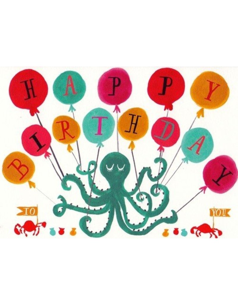 Mr. Boddington's Studio Mr. Boddington's Studio Individual Cards  Octopus Birthday