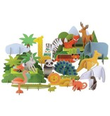 Petit Collage Petit Collage - Deluxe Pop Out  Animals of the World