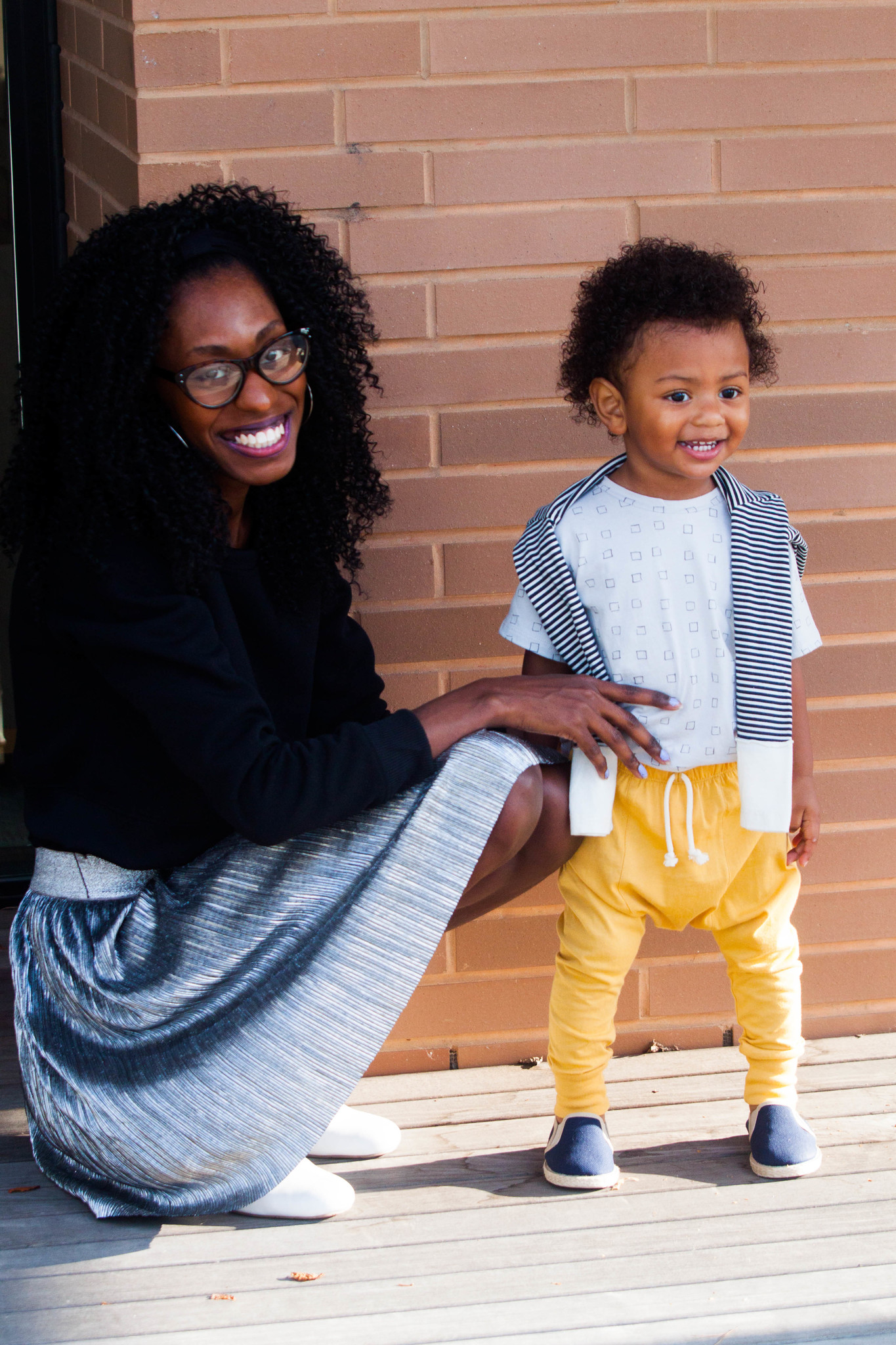 Behind The Scenes of Fall Fashion Shoot Toddler With Mom