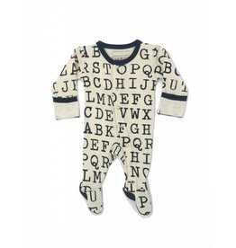 L'ovedbaby L'ovedbaby- Footed Overall Alphabet