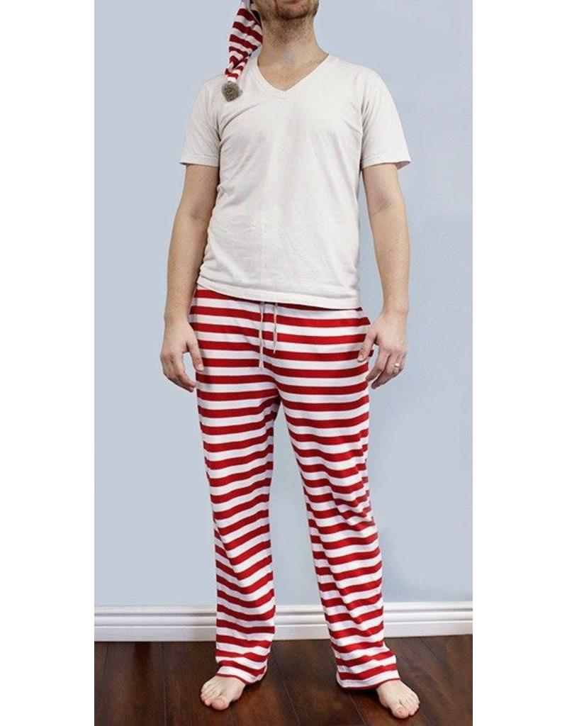 L'ovedbaby L'ovedbaby - Men's PJ Bottom & Cap Set Candy Cane Stripe