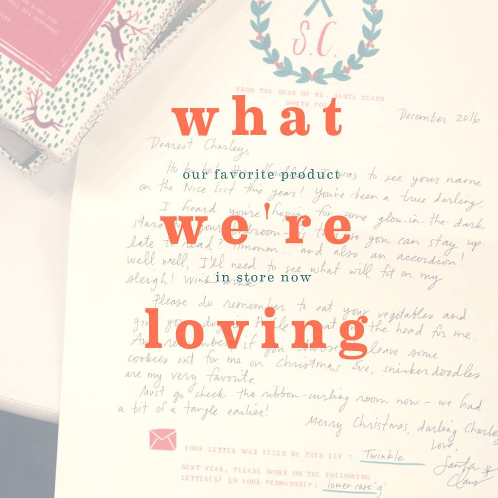 What We're Loving: Letters To Santa