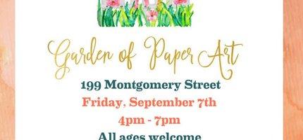 JC Fridays: Garden of Paper Art Event