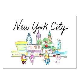 "Lady Lucas Art Lady Lucas Art New York City Illustration 11""x14"""